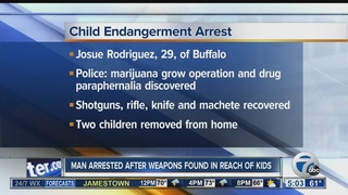Man charged after weapons found in reach of kids