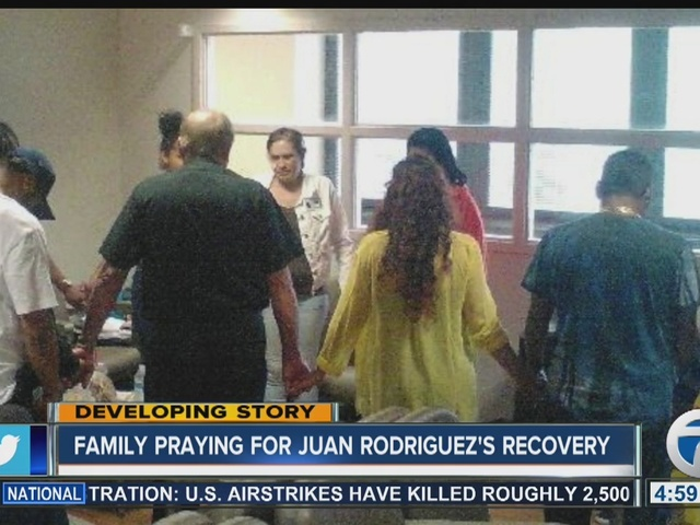 Family Praying For Juan Rodriguez's Recovery
