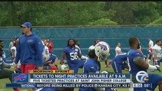 Buffalo Bills night practice tickets