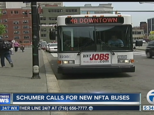 Senator Schumer pushes for purchase of new buses for NFTA