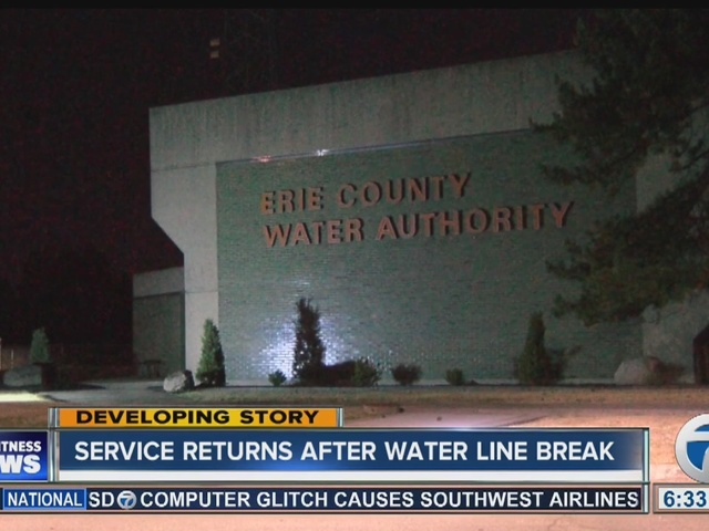 Water service returns after water line break