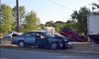 Driver killed, two children hurt in crash