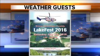 LakeFest 2016 Weather Guests at Noon!