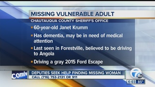 Police: Missing woman in Chautauqua County
