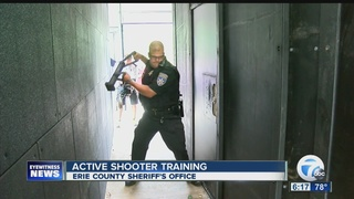 Officers go through active shooter training