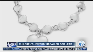RECALL: Children's jewelry contains lead