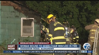 Woman in wheelchair rescued in overnight fire