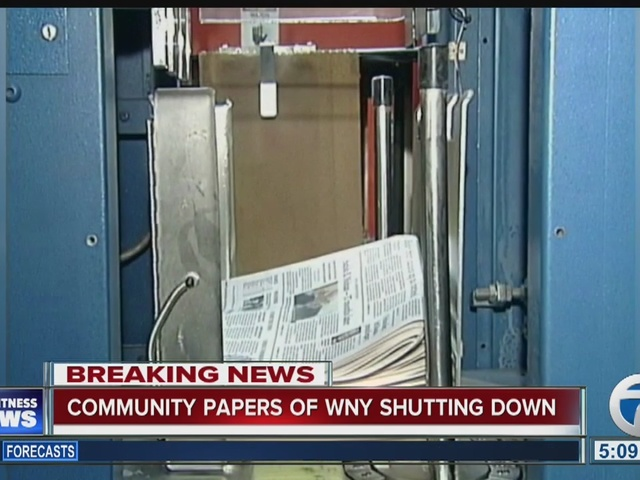 Community Papers of WNY to shut down at 5 p.m.