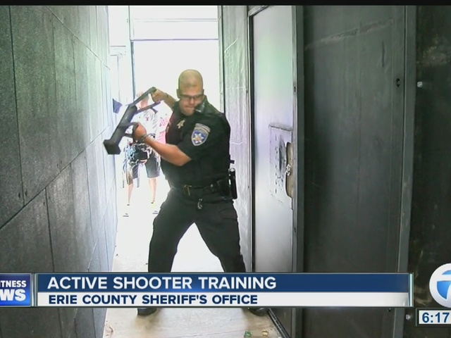 Erie County Sheriff's Deputies go through active shooter training