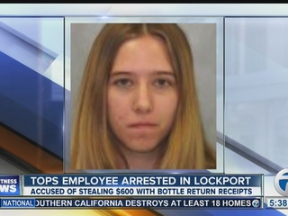 Tops employee accused in bottle return theft