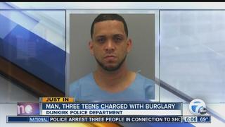 Police: Man, three teens charged with burglary