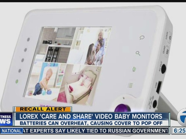 Baby monitor recalled for burn risk