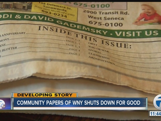 Community Papers of WNY shuts down for good