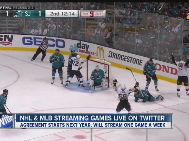NHL & MLB streaming games live on Twitter