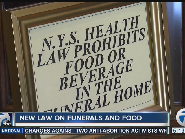 New law allows food and beverages to be served in funeral homes