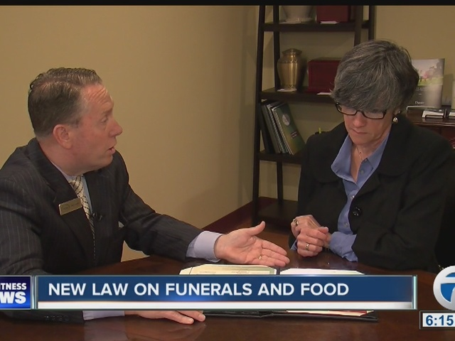 New law for funeral homes and food