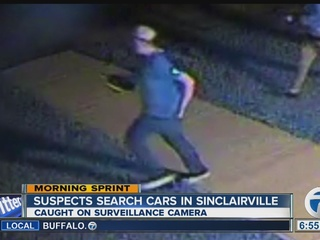 Police look for men who searched parked cars