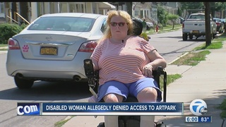 Disabled woman allegedly not allowed in Artpark