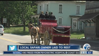 Special horses take safari owner to final rest