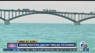 Ryan: Waits at Peace Bridge may hurt economy