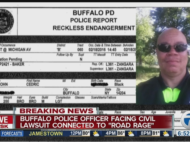 Buffalo police officer facing civil lawsuit