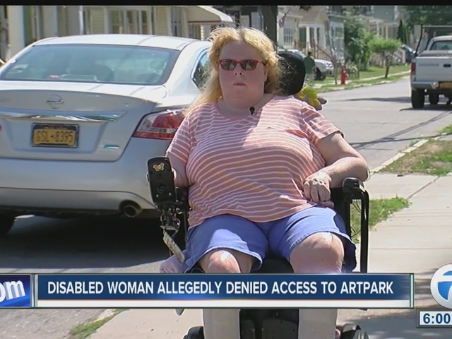 Disabled woman said she was denied access to Artpark