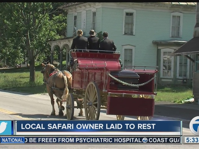 Funeral for local safari owner in Varysburg