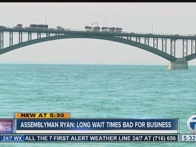 NYS Assemblyman Sean Ryan is concerned wait times at Peace Bridge could…