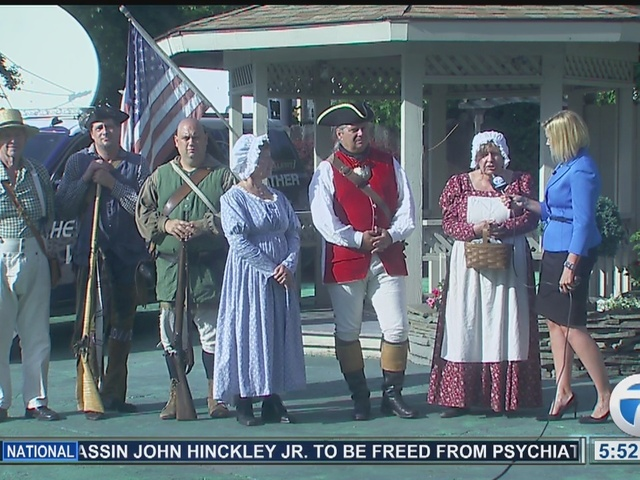 Revolutionary War Weather Guests on 7 Eyewitness News at 5:30pm