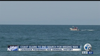 Coast Guard suspends search for missing boater