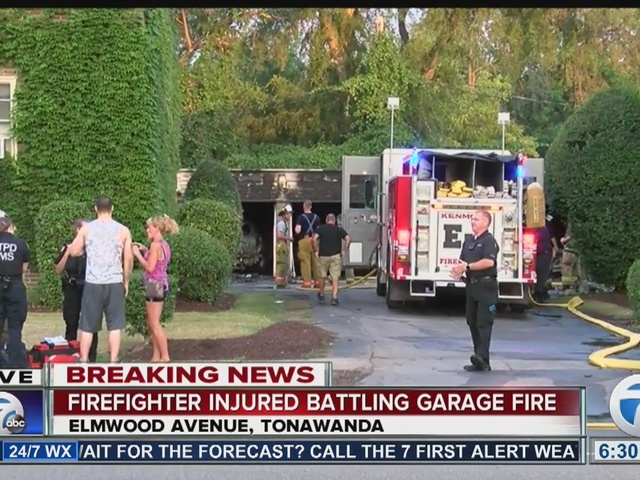 Firefighter hurt working fire in Tonawanda