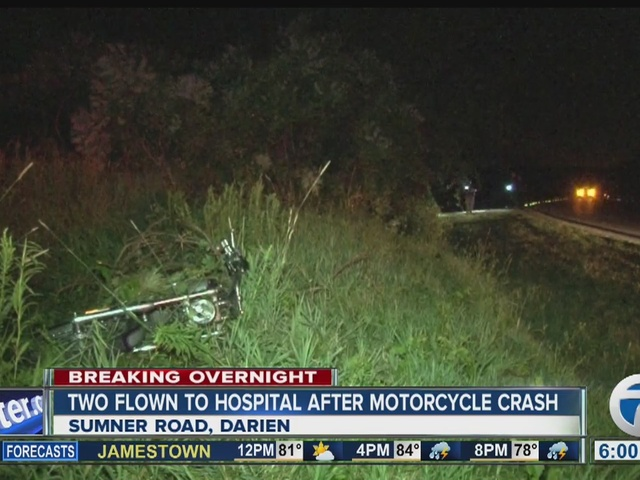 Two flown to hospital after serious motorcycle crash
