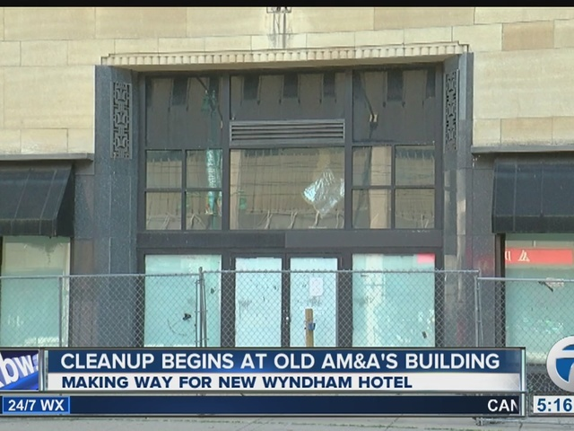Cleanup work begins to redevelop landmark department store