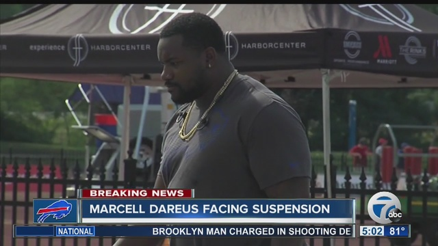 Bills' Dareus says 4-game suspension for missed drug test