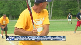 Local law enforcment rally for Dallas Police