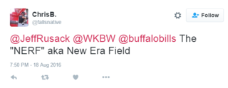 Fans getting clever with New Era Field nicknames