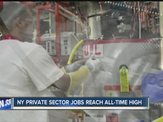 NY private sector jobs reach all-time high