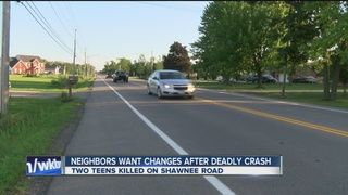 Neighbors want changes to road after fatal crash