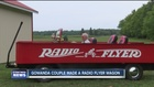 Couple's Radio Flyer wagon can reach 70 mph