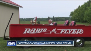 Pair make red Radio Flyer wagon that can hit 70