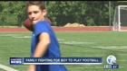 Family fights HS football ineligibilty decision