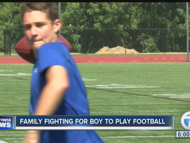 Family fighting for boy to play football