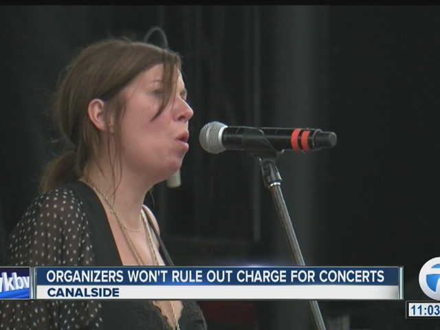 Canalside concert organizers may consider charge