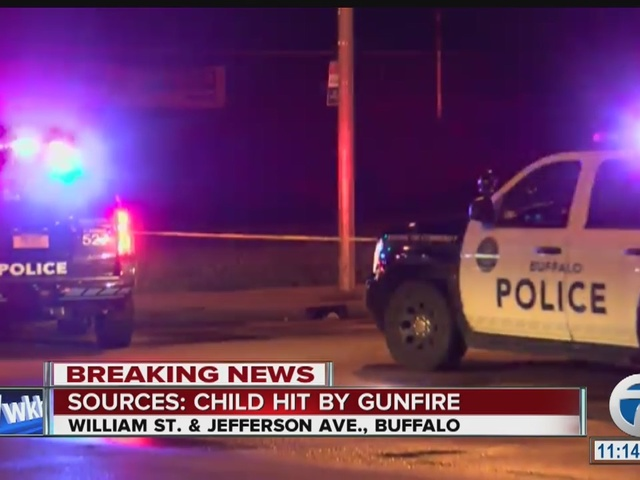 Child struck by gunfire on Buffalo's east side