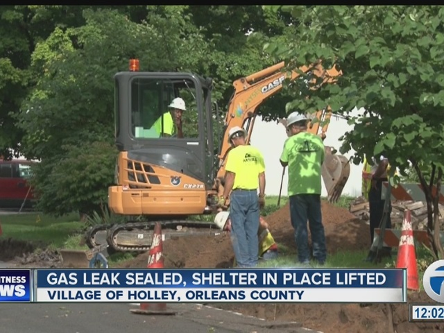 Gas Leak Sealed in Village of Holley