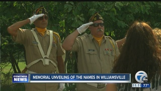 Amherst veterans honored with a memorial