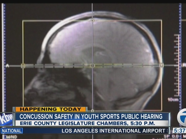 Concussion safety in youth sports public hearing