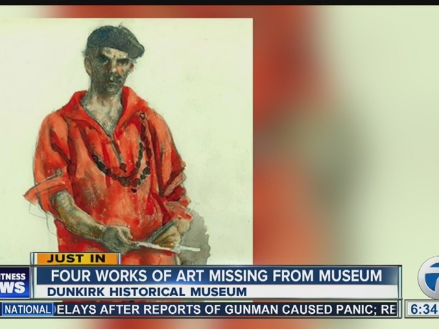 Historical Society in Dunkirk reports theft of four paintings