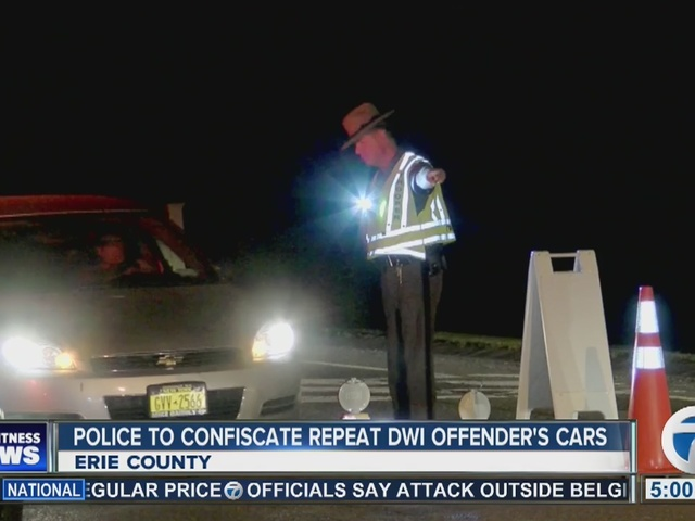 New DWI policy means police can confiscate offender's car