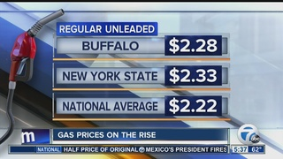 Gas prices on the rise before holiday weekend